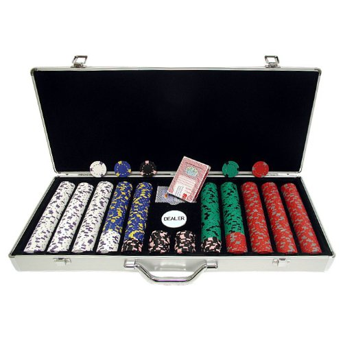 Trademark 650 13 Gm Pro Clay Casino Chips With Aluminum Case (Silver) front-723034