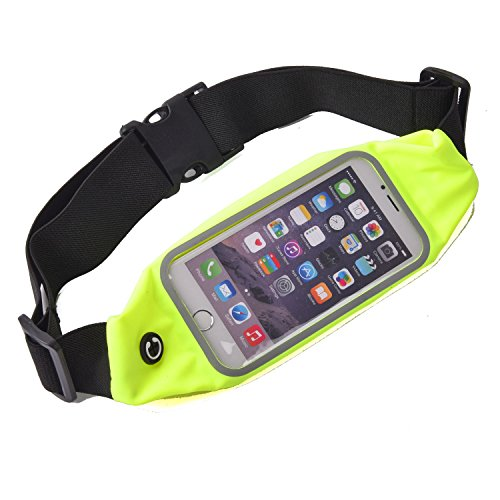 Sweatproof Sports Running Waist Bag,Travel Hiking Sports Waist bag Carry Belts With Transparent Touch Screen Window For Various Series Mobile Phone Under 4.7