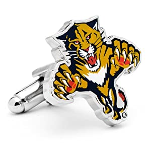 NHL Silver Plated Cufflinks NHL Team: Florida Panthers by Cufflinks Inc.