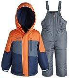 OshKosh Little Boys 2 Piece Snowsuit Set: Warm Winter Puffer Jacket and Snowbib
