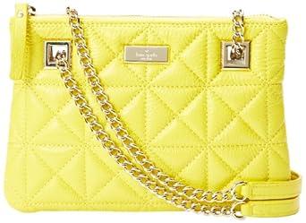 kate spade new york Sedgwick Place Morgan Shoulder Bag,Graffiti Yellow,One Size
