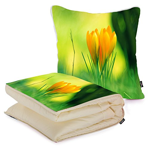 i-famuray-custom-home-bed-decoration-square-pillow-with-blanket-winsome-yellow-flowers