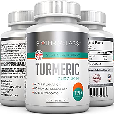 New Turmeric Curcumin - Powerfull 100% Natural Antioxidant - Best Anti-inflammatory in 120 Capsules (Better Value) - Removes Toxins, Supports Healthy Joints and Liver, Revieves Joint & Arthritis Pain. 100% Lifetime Money Back Guarantee - Order Risk Free!