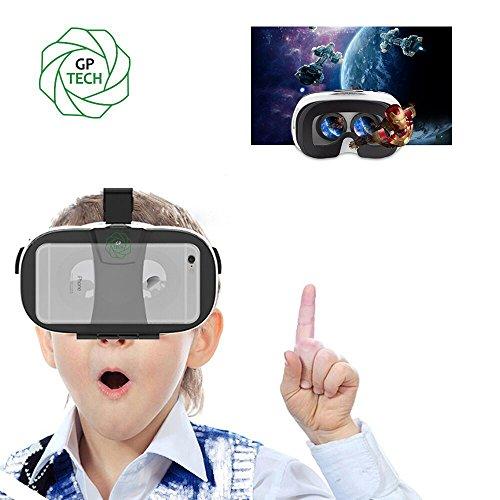 GP VR18 3DVR ゴーグル 3Dメガネ 超3D映像効果  ビデオ 映画ゲーム 仮想現実 焦点距離/瞳孔距離調整可能 4- 6.5インチのスマートフォンiPhone 6Plus 6 Samsung なとに適用 GoogleDIY ヘッドバンド付き