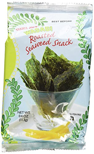 Making Wasabi Deviled Eggs with Trader Joe's Wasabi Roasted Seaweed Snack (Pack of 6)