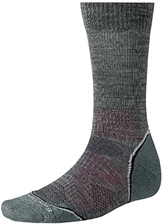 Smartwool PhD Outdoor Light Crew Socks - Medium Gray M