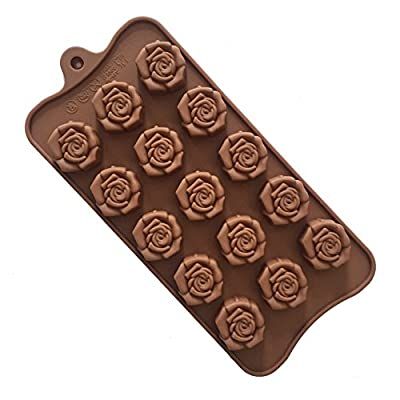 Always Your Chef Full Blooming Rose Shaped Silicone Candy/Chocolate Making Molds DIY Molds, MINI Molds for Making Jello,Random Color