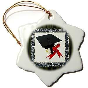 Susan Brown Designs Graduation Day Snowflake Porcelain Ornament, 3-Inch