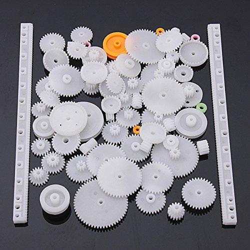 lucksender-75-type-plastic-crown-gear-single-double-reduction-gear-worm-gear