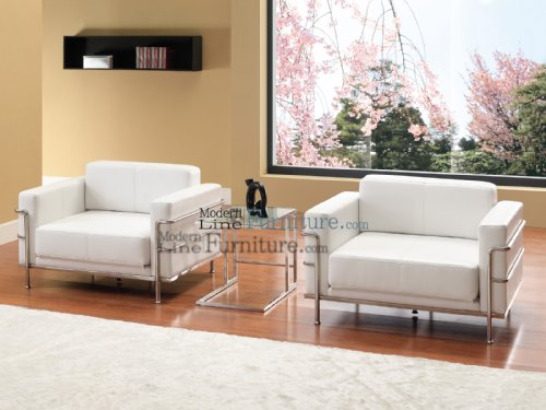 Black Friday Modern Furniture White Leather Living Room Sleeper Set With 2 Ch
