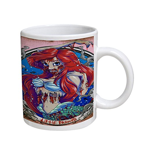 Zombie Little Mermaid Portrait - White Coffee Mug