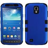 MYBAT Titanium TUFF Hybrid Dual Layer Protector Case for Samsung Galaxy S4 Active I537 - Carrying Case - Retail Packaging - Dark Blue/Black