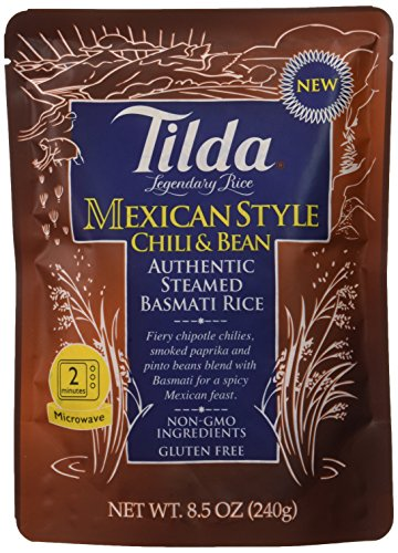 Tilda Legendary Rice Steamed Basmati, Mexican Chili & Bean, 8.5 Ounce (Pack of 6) (Tilda Basmati Rice Legendary Rice compare prices)