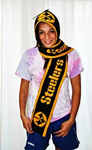 NFL Pittsburgh Steelers Hoodie Fleece Scarf  at SteelerMania