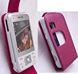 EMARTBUY SONY ERICSSON C903 FLIP CASE COVER WITH BUILT IN PHONE HOLDER METALLIC PINK