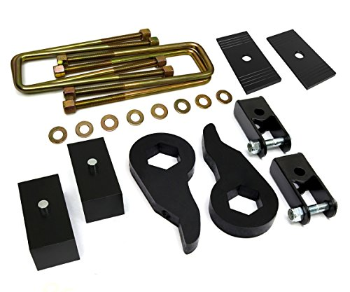 1999 - 2007 (Classic) Silverado Lift Kit 1500 4WD Adjustable 1 to 3 Inch Front 3 Inch Rear BIG BRAWNS Torsion Bar Lift Keys Lift Blocks Extended U-Bolts Axle Shims and Shock Extenders (04 Chevy Z71 Lift Kit compare prices)