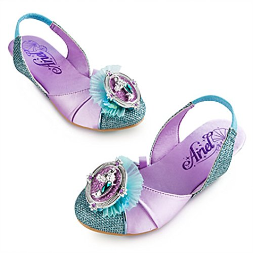 Ariel the Little Mermaid Costume Shoes Turquoise Lavender New 2014 13/1