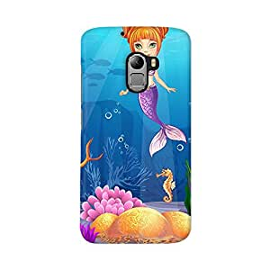 ArtzFolio Funny Fish And A Mermaid : Lenovo K4 Note Matte Polycarbonate ORIGINAL BRANDED Mobile Cell Phone Protective BACK CASE COVER Protector : BEST DESIGNER Hard Shockproof Scratch-Proof Accessories