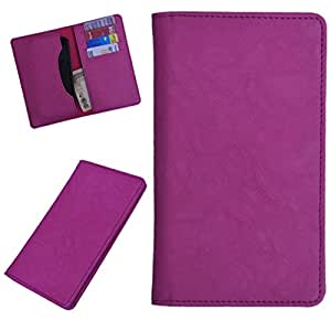 DCR Pu Leather case cover for Lava Iris Pro 30+ (pink)