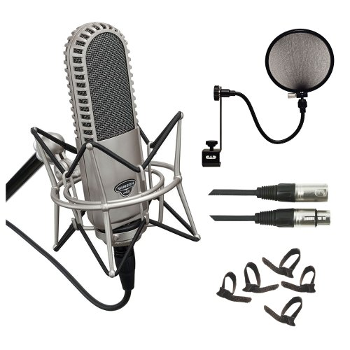 Samson Vr88 Velecity Ribbon Microphone W/ Shockmount & Carry Case + 20Ft. Microphone Cable + Microphone Pop Filter + Cable Ties