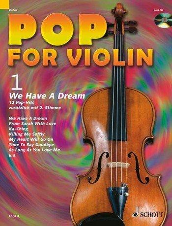 Harald Wingerter Pop for Violin Band 1 inkl. CD - 12 tolle Songs von Cat Stevens, Celine Dion u.a. für 1-2 Geigen arrangiert (Noten)