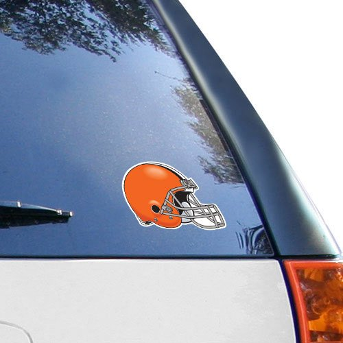 NFL Cleveland Browns 4.5'' x 6'' Team Helmet Ultra Decal Cling (Cleveland Browns Auto Decal compare prices)