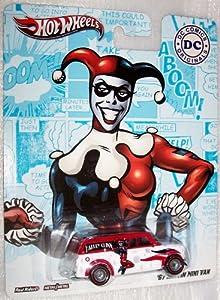 Hot Wheels DC Comics Real Riders Harley Quinn '67 Austin Mini Van - Die-Cast Vehicle
