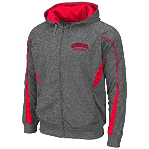 Nebraska Cornhuskers NCAA Renegade Full Zip Hooded Sweatshirt - Charcoal by Unknown
