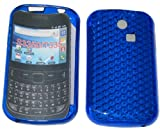 For Samsung Ch@t 335 T335 S3350 Diamond Patterned Protective Silicone Gel Case Cover Pouch TPU. (Royal Blue)