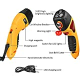 Mictuning Emergency Car Hammer w/ Seatbelt Cutter,Window Breaker,Escape Hammer,Emergency Strobe Light and Magnet - Yellow