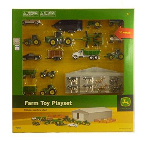 Britains John Deere 70 Piece Die-Cast Farm Playset - Includes Machine Shed