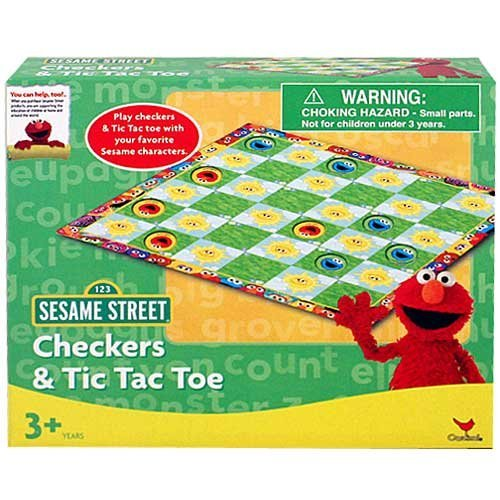 Sesame Street Checkers and Tic Tac Toe - 1