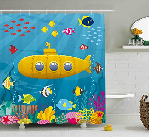 Yellow Submarine& the Fish Shower Curtain