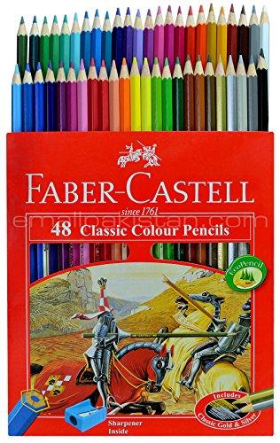 Faber Castell Premium Color Pencils, 48 Colored Pencils