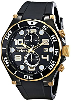 Invicta Men's 15396 Pro Diver Analog Display Japanese Quartz Black Watch