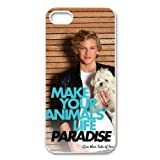 Famous singer cody simpson handsome boy with cute dog paradise design Iphone 5/5s hard plastic case