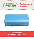 iRobot Scooba 5900 Replacement Battery, Voltage: 14.4V Capacity: 3500mAh, Designed & Engineered by Crucial Vacuum