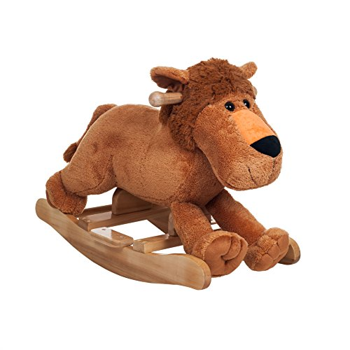 Happy Trails Rocking Leo Lion Plush Ride On