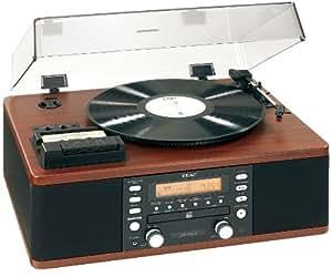 Teac LP-R500W Platine Vinyle / Lecteur Radio Cassette / Graveur CD Finition Bois
