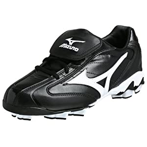 Mizuno Men's 9-Spike Franchise Low G4 Cleat,Black/White,8 M