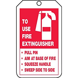 Accuform Signs TRS218CTP Fire Extinguisher Instructions and Inspection