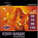 Rotosound SH77 Steve Harris Monel Flatwound Bass Guitar Strings (50-110)