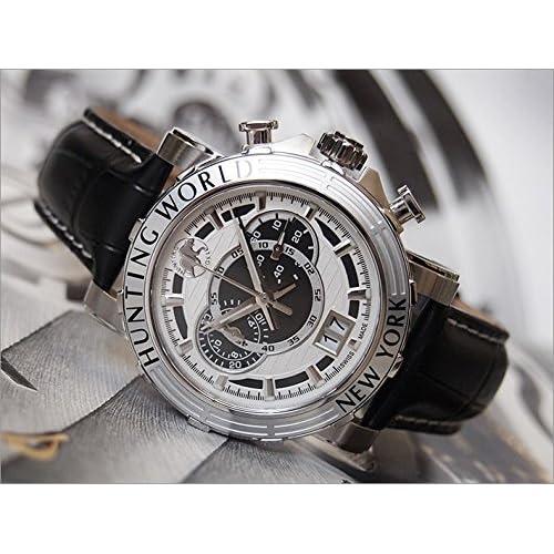 [ハンティングワールド]HUNTING WORLD 腕時計 イリス HW913WHBK レザーベルト ホワイト×ブラック