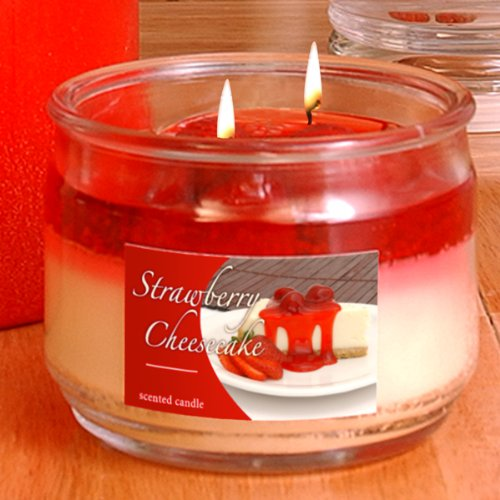 Hanna's Strawberry Cheesecake Soy and Jel Candles