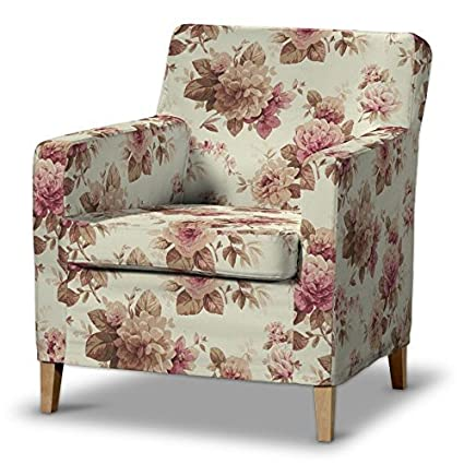 FRANC Textile 621-141-06 Karlstad Arm Chair One Seater Burdeaux Fabric High Sesselhusse, Mirella Karlstad Armchair beige / bordeaux by FRANC-TEXTIL