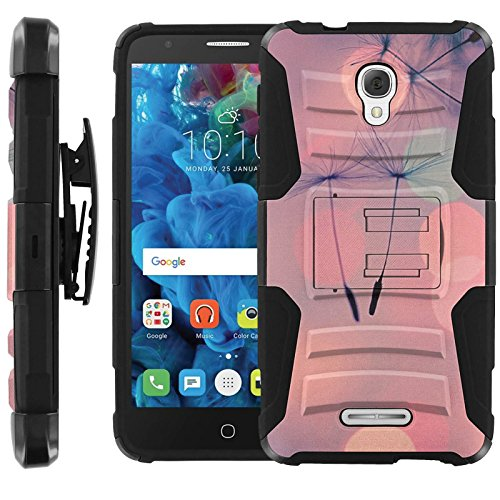 flower-paddle-alcatel-fierce-4-combat-holster-dual-layer-hybrid-hard-soft-rubber-protective-case-non