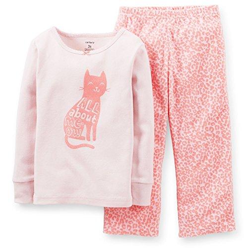 Carter's Baby Girls' 2 Piece Pant PJ Set (Baby) - Cat - 12 Months
