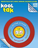KOOL TAK Ultra Clear Sticky Tape, 1/4-Inch by 16-Yard