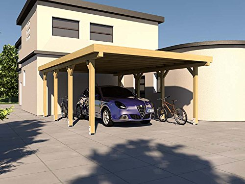 carport flachdach silverstone xiv 400x600 cm bausatz flachdachcarport. Black Bedroom Furniture Sets. Home Design Ideas