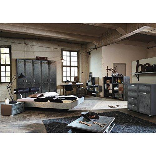 Schlafzimmer Jugendzimmer Set »LOFTE221« Industrial-Print-Optik, graphit günstig